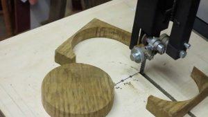 cut circle wood bandsaw